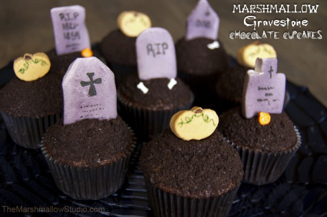 Halloween Gravestone MM Cupcake Toppers-TheMarshmallowStudio