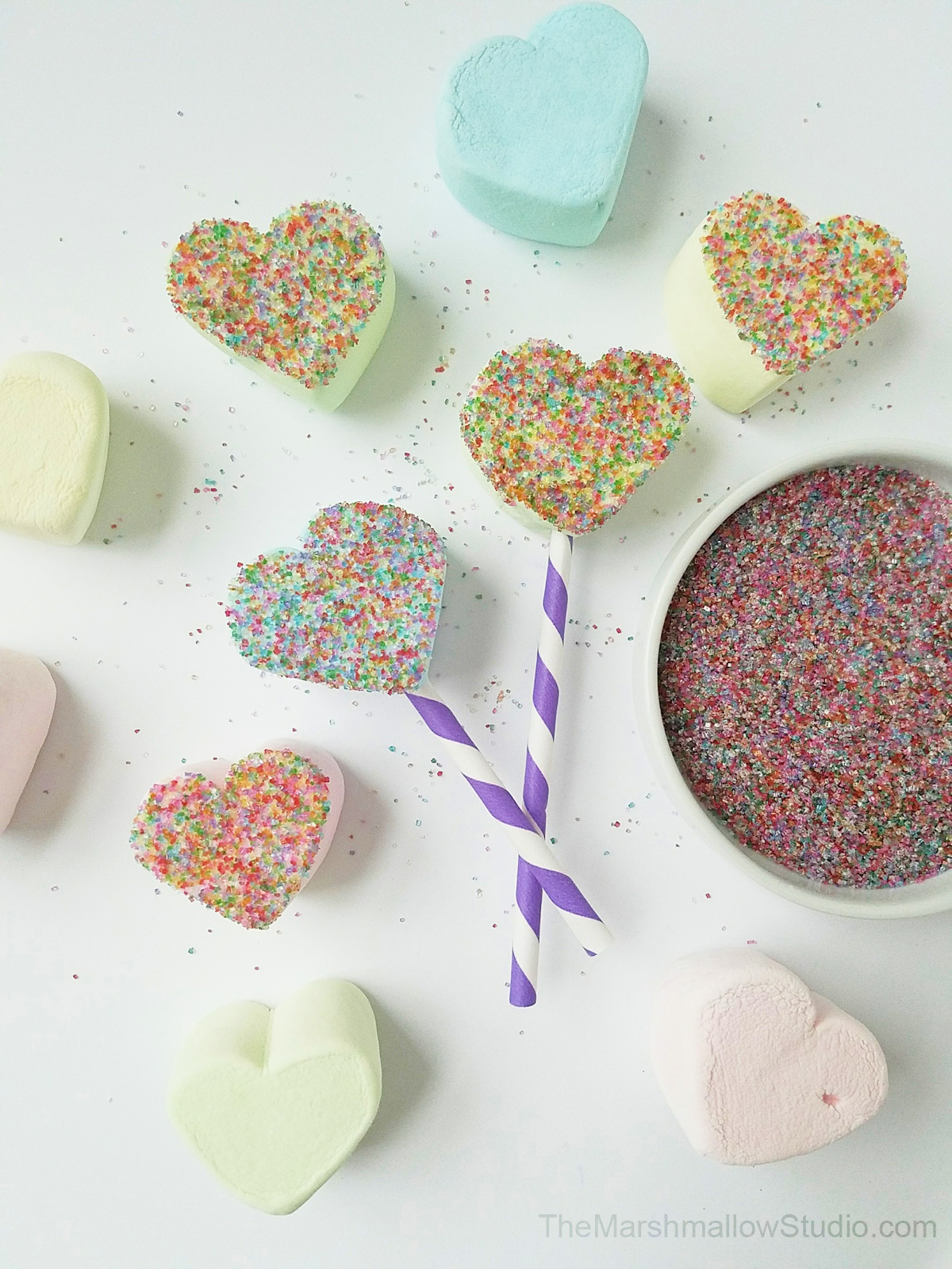 4 fun DIYs with Jumbo HeartMallows Conversation Hearts by The Marshmallow Studio1