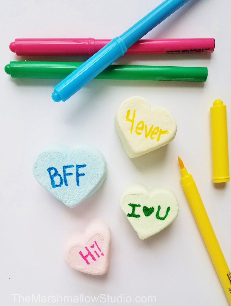 4 fun DIYs with Jumbo HeartMallows Conversation Hearts by The Marshmallow Studio18