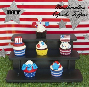 4th of July DIY marshmallow cupcake toppers by TheMarshmallowStudio_2